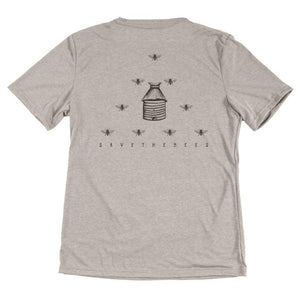 Save the Bees Tee - Gray (1489631739953)