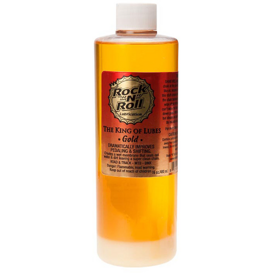 ROCK-N-ROLL - Gold Bike Chain Lube - 16 fl oz, Drip