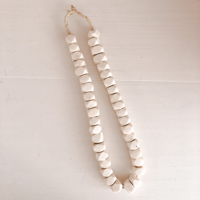 Natural Faceted Ivory Beads
