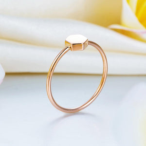 Hexagon Gold Ring