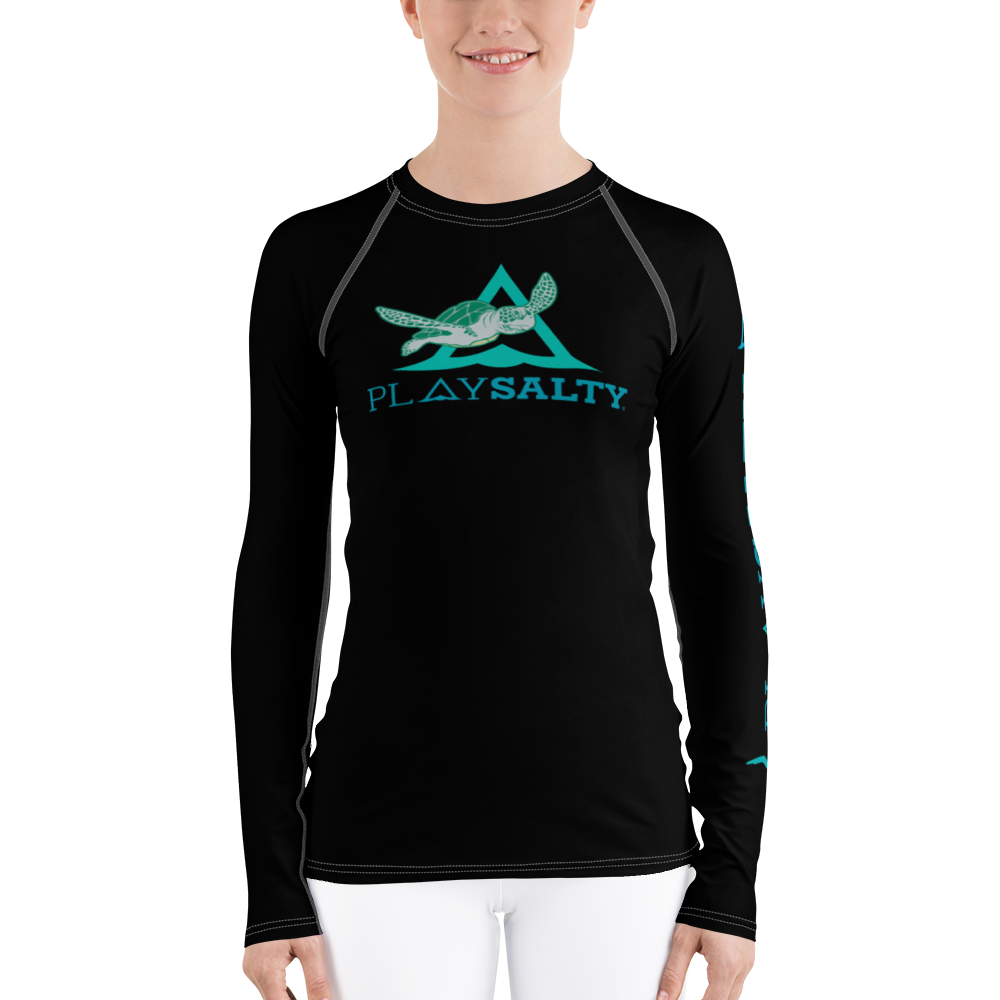 SAVE THE TURTLES Rash Guard - PLAY SALTY