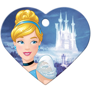 Cinderella Large Heart Disney Princess Pet ID Tag - Cinderella
