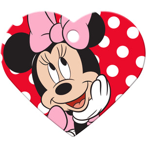 Minnie Mouse Large Heart Disney Pet ID Tag