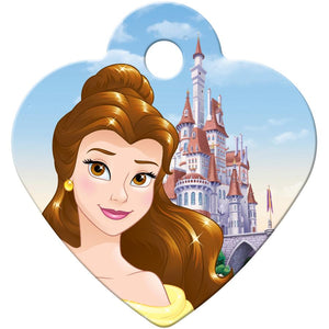 Belle Small Heart Disney Princess Pet ID Tag - Beauty and the Beast