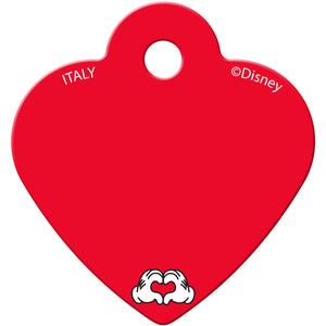 Minnie Mouse Dots Small Heart Disney Pet ID Tag