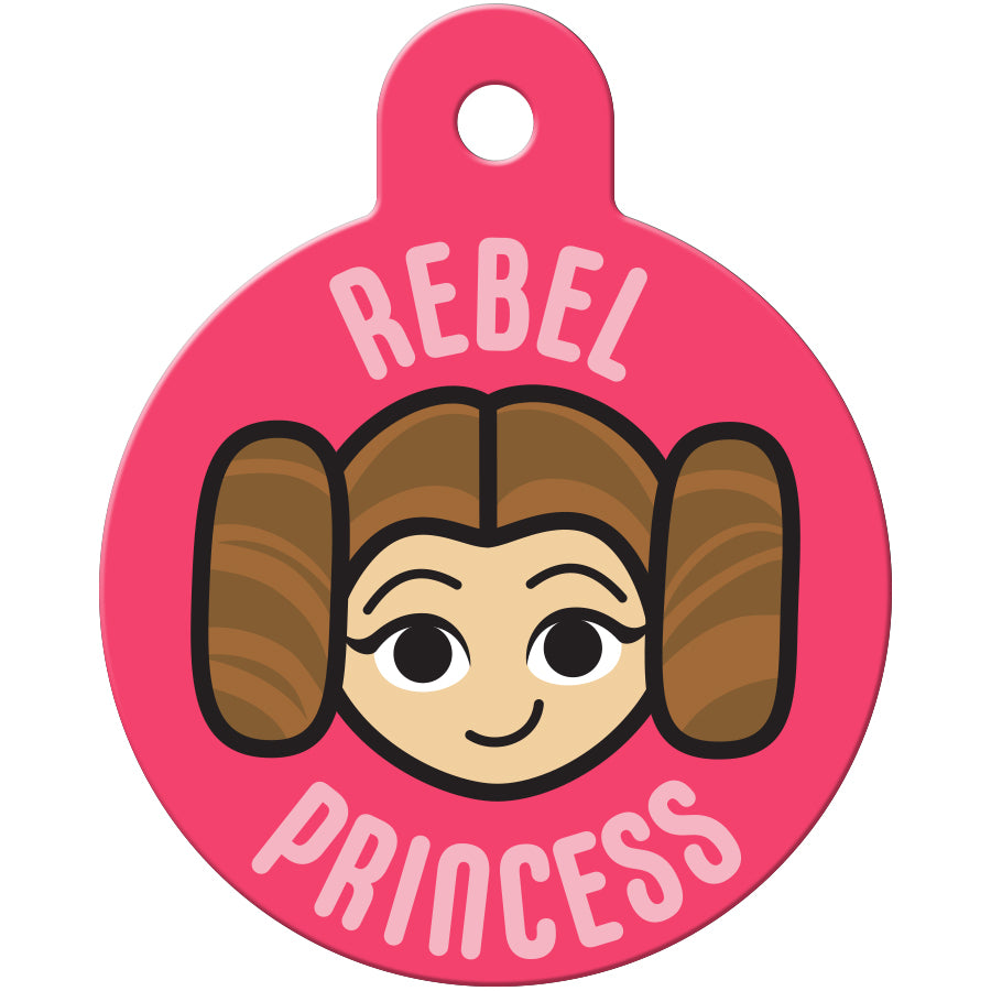 Rebel Princess Leia Large Circle Star Wars Pet ID Tag
