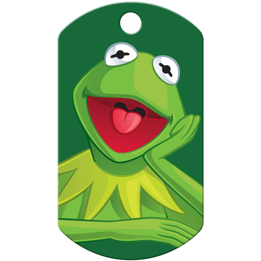 Kermit the Frog Large Military Disney Pet ID Tag - Muppets