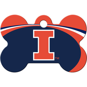 Illinois Fighting Illini Pet ID Tags