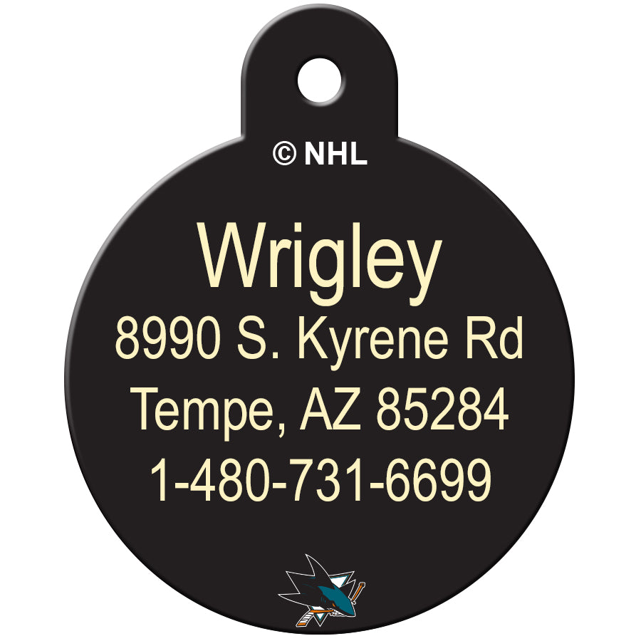 San Jose Sharks Pet ID Tags