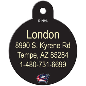 Columbus Blue Jackets Pet ID Tags