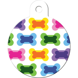 Multi Color Bones Pet ID Tag
