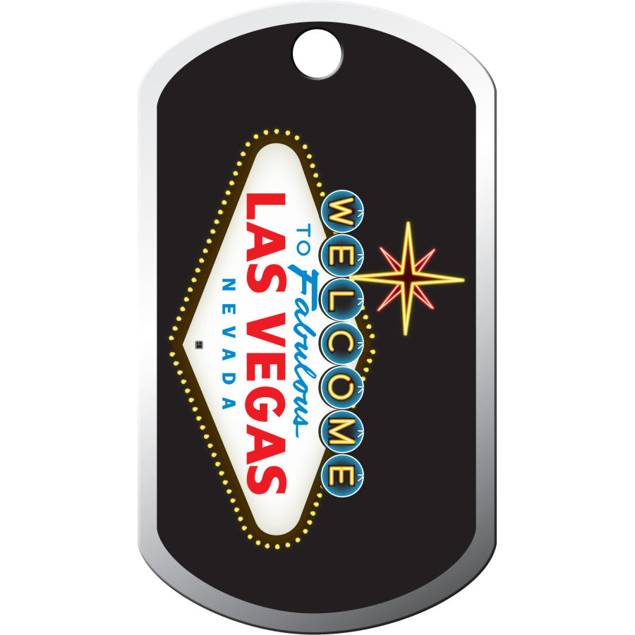 Las Vegas Sign Military Pet ID Tag