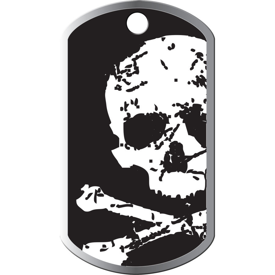 Skull and Crossbones Military Pet ID Tag