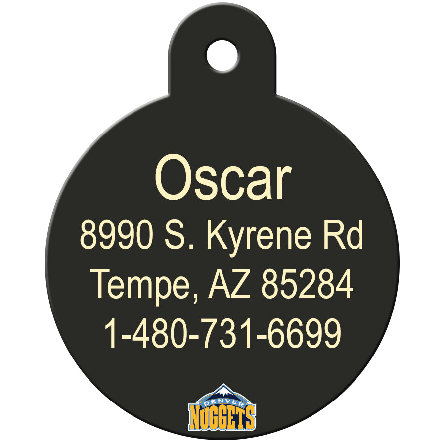 Denver Nuggets Pet ID Tags