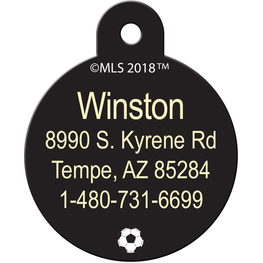 Houston Dynamo Pet ID Tags
