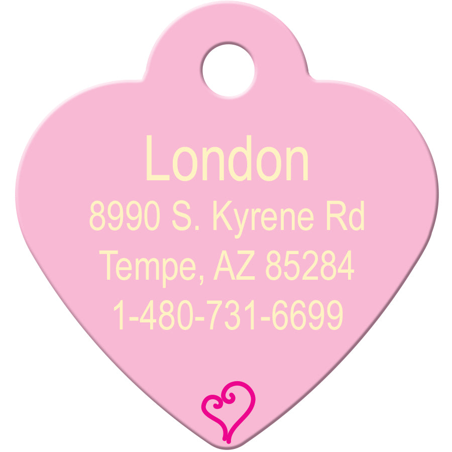 Spoiled Rotten Pink Heart Pet ID Tag