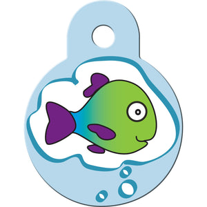 Dreaming Fish Pet and Cat ID Tag