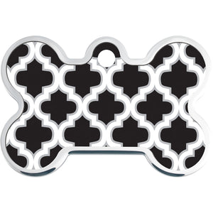 Raised Edge Trellis Pet ID Tags
