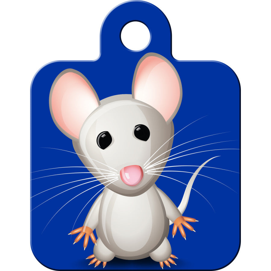 Grey Mouse Pet ID Tag