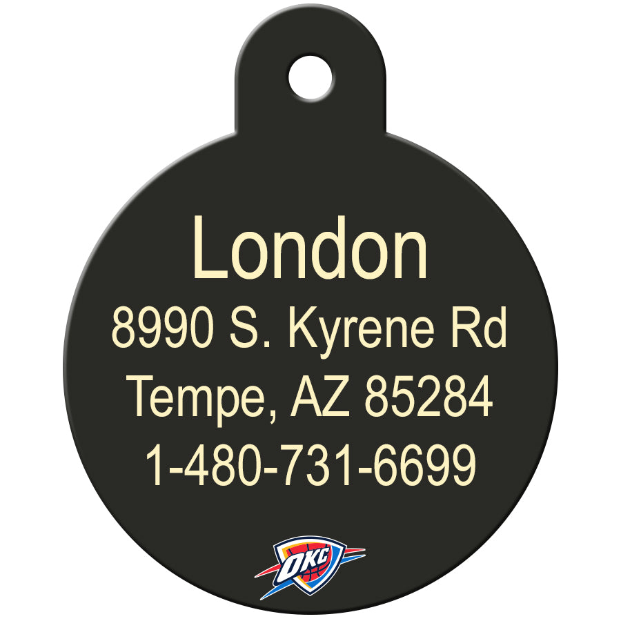Oklahoma City Thunder Pet ID Tags