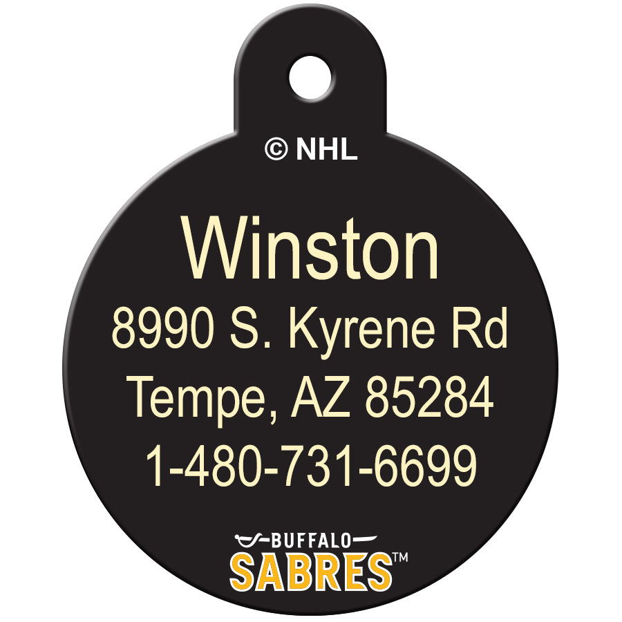 Buffalo Sabres Pet ID Tags