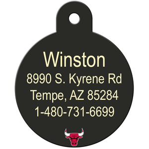 Chicago Bulls Pet ID Tags