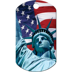 Statue Of Liberty Chrome Military Pet ID Tag