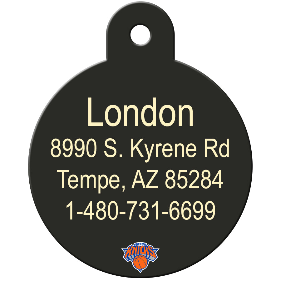 New York Knicks Pet ID Tags