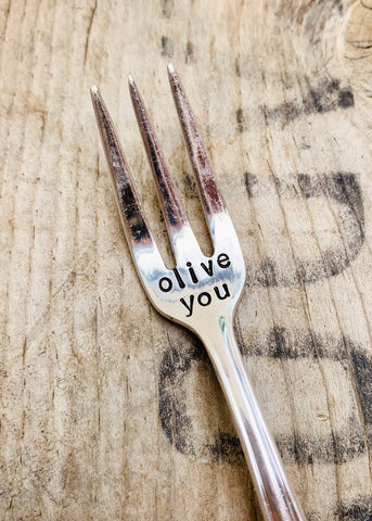 Olive You Cocktail Fork