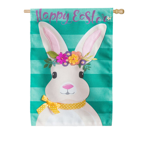 House Flag Easter Bunny Burlap