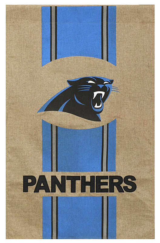 House Flag Carolina Panthers Burlap