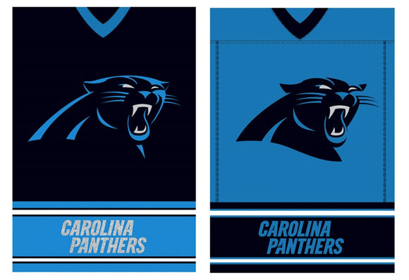 House Flag Carolina Panthers Jersey Suede Glitter
