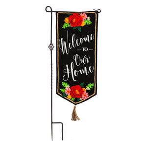 Garden Flag Welcome to Our Home Long