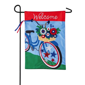 Garden Flag Patriotic Bicycle Linen