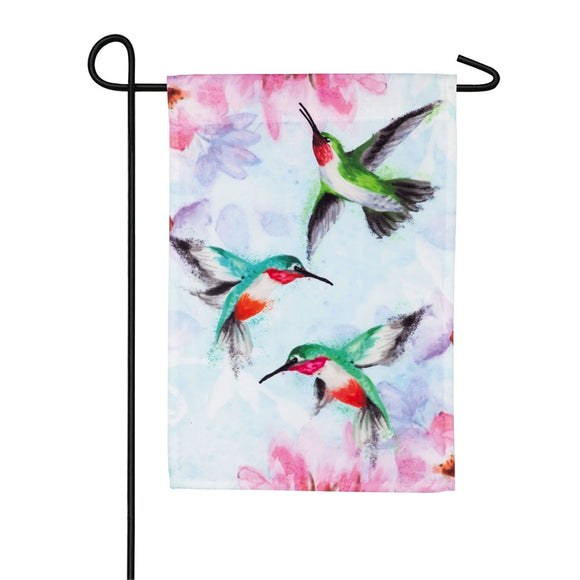Garden Flag Hummingbirds Organza