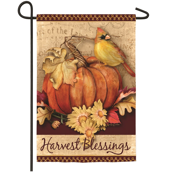 Garden Flag Fall Pumpkin Harvest Suede