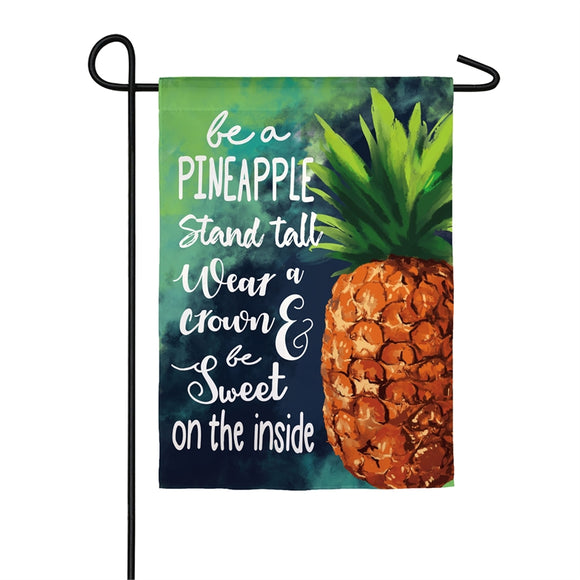 Be A Pineapple Garden Flag Suede