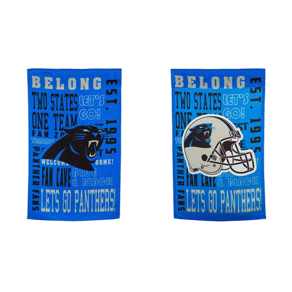 Garden Flag Carolina Panthers Fan Rules Suede