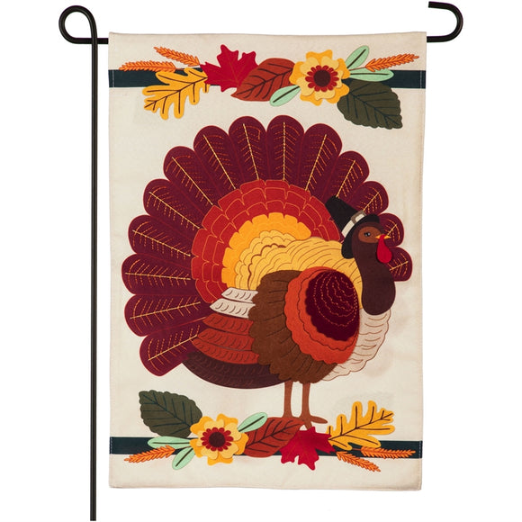 Garden Flag Pilgrim Turkey Linen