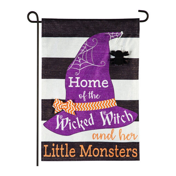 Garden Flag Wicked Witch and her Little Monsters Linen