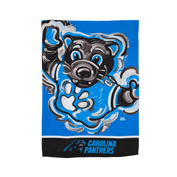 Garden Flag Carolina Panthers Justin Patten Suede