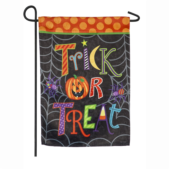 Garden Flag Trick-or-Treat Suede