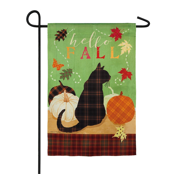 Garden Flag Fall Farmstead Cozy Kitty Suede