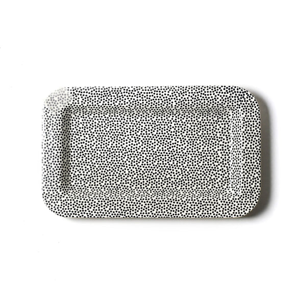 Black Small Dot Mini Entertaining Mini Rectangle Platter