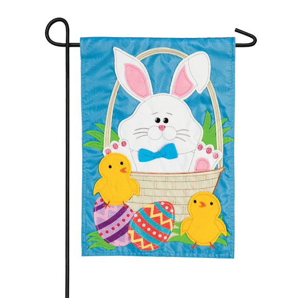 Garden Flag Easter Bunny and Chicks Applique
