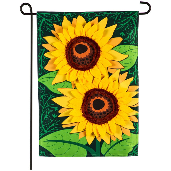Garden Flag Sunflower Applique