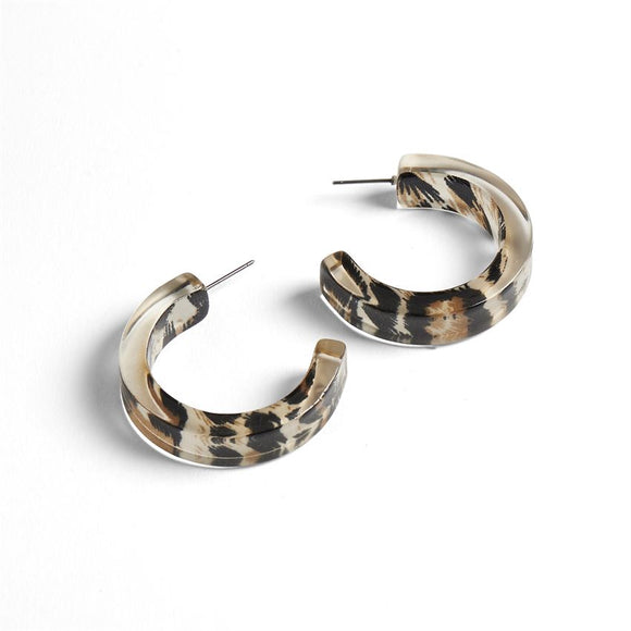 Hoop it Up Animal Earrings