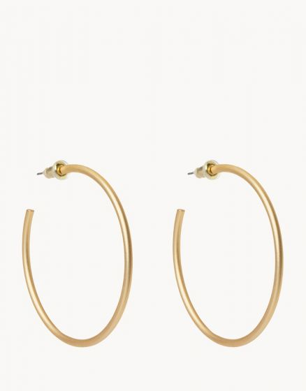 Fine Line Hoop Earrings Gold