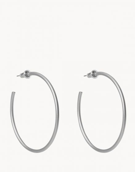 Fine Line Hoop Earrings SIL