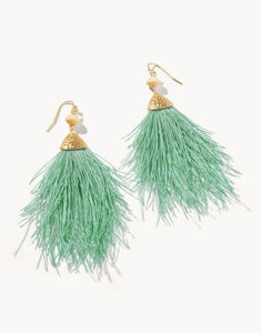 Mariana Fringe Earrings Sea Foam